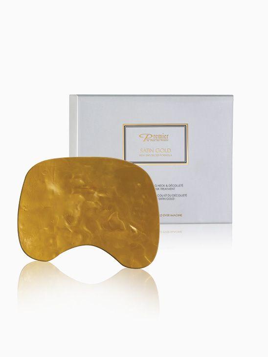 Premier Satin Gold belebende Kollagen-Maske für Hals und Dekolleté K61